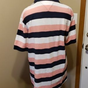 Tommy Hilfiger Shirts - Tommy hilfiger pink navy white stripe polo xl